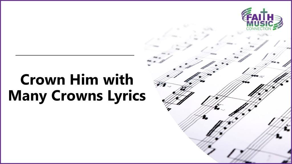 Crown Him with Many Crowns Lyrics Graphic Template