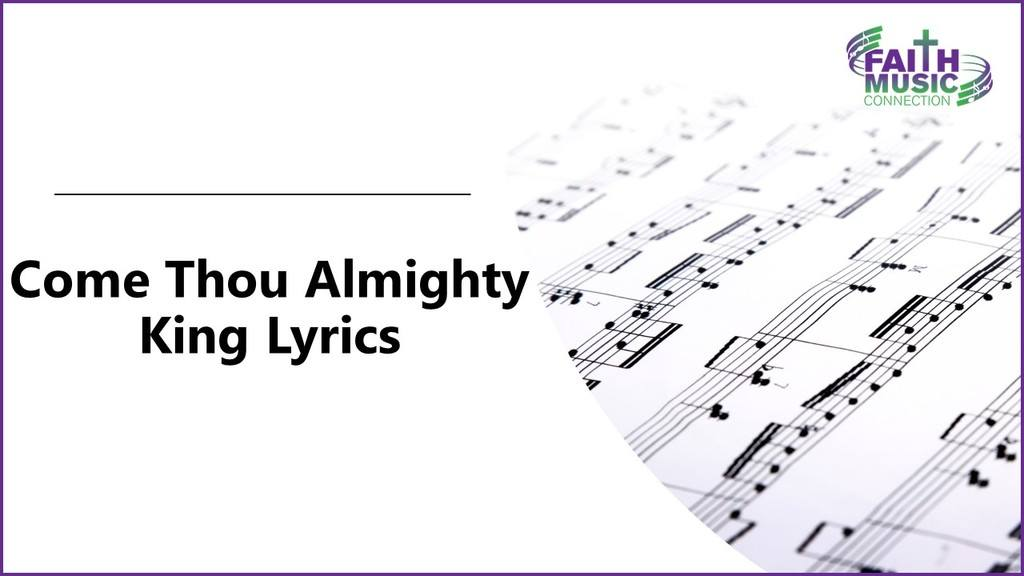 Come Thou Almighty King Lyrics Graphic Template