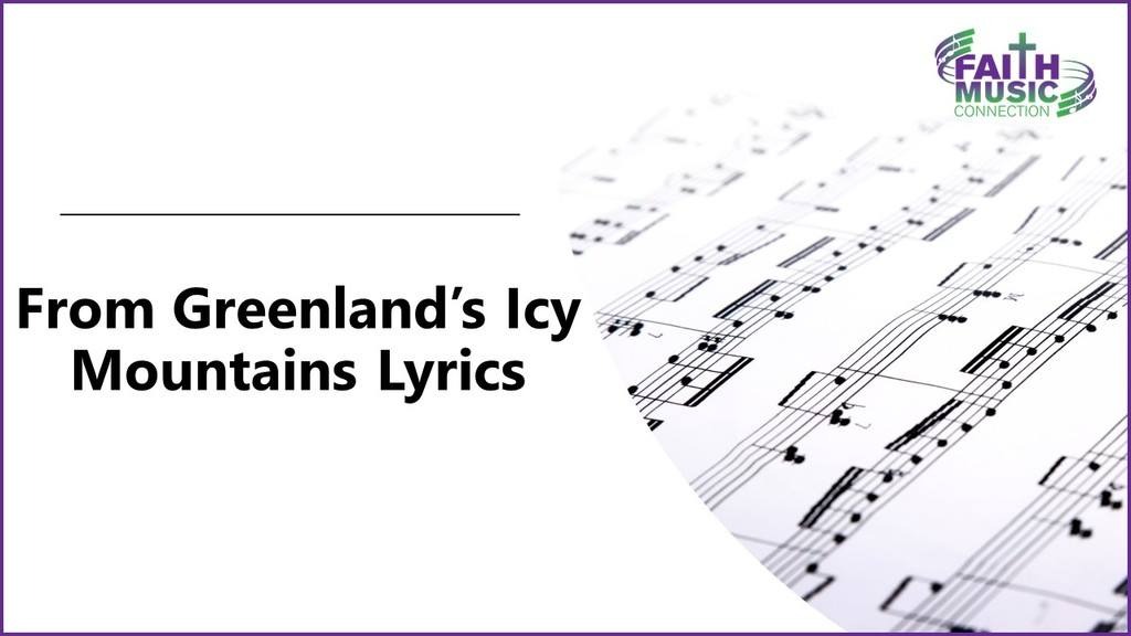 From Greenland's Icy Mountains Lyrics Graphic Template