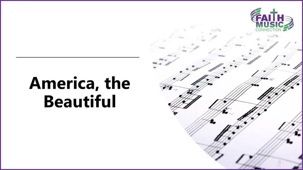 America, the Beautiful Lyrics Graphic Template
